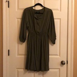 Target Olive Green Knee Length Dress with Pockets